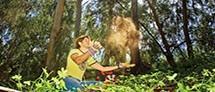אדם ביער