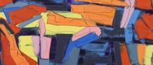 """תמונה מופשטת, גלעד אפרת, פרט מתוך: אשל (נגב),2015,שמן על בד,150X150 ס""""מ"""